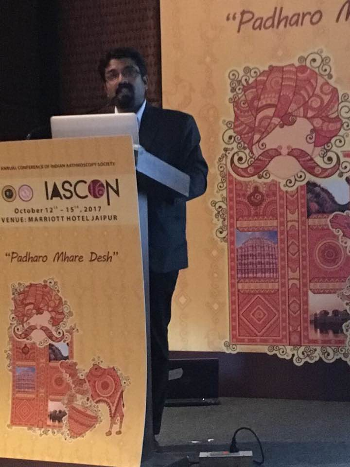 Delivered Faculty lecture by Dr Brajesh Dadarya - Arthroscopy Surgeon from Jabalpur